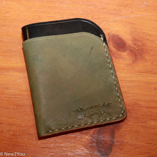(BWEISS) Leather Black Shell Double Fold Sleeve Wallet - New2You LX