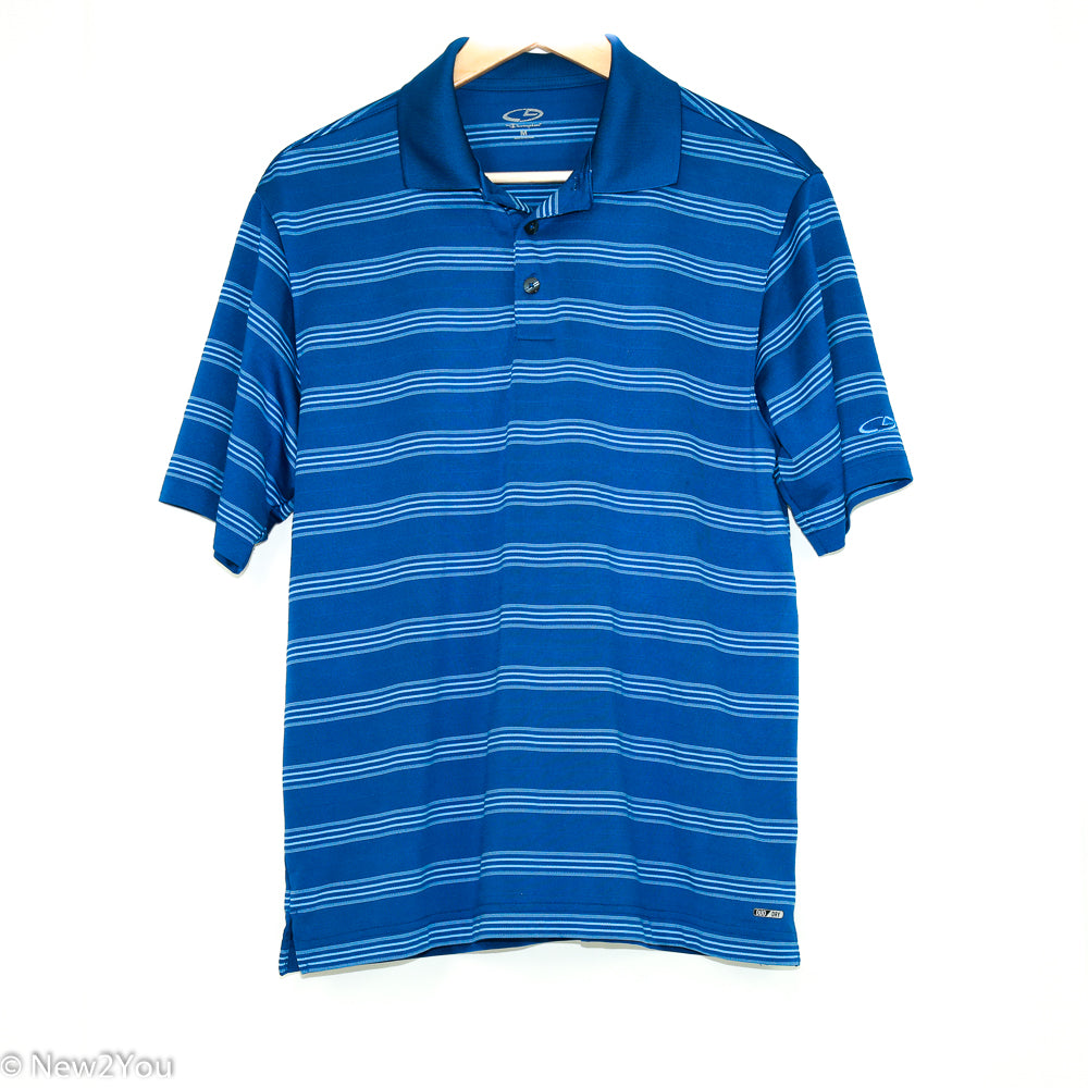 Blue Striped Golf Polo (Champion) - New2You LX