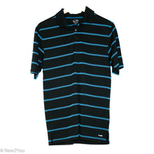Load image into Gallery viewer, Black & Blue Striped Golf Polo (Champion) - New2You LX