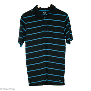 Black & Blue Striped Golf Polo (Champion) - New2You LX