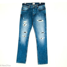 Load image into Gallery viewer, Distressed Blake Slim Fit Blue Jeans (Hudson)