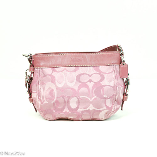 Dainty Pink Rose Colored Signature Handbag (Coach) - New2You LX
