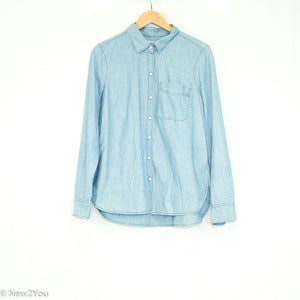 Blue Button Up Long Sleeve Shirt (Old Navy) - New2You Lx