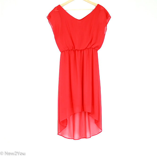 Red Sheer Evening Dress (Charming Charlie) - New2Youlx
