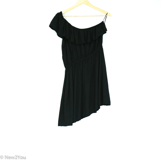 Black Ruffle One-Shoulder Dress (Cotton On) - New2You Lx