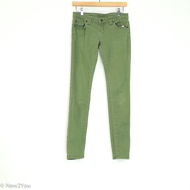 Green Skinny Jeans (Britt) - New2Youlx