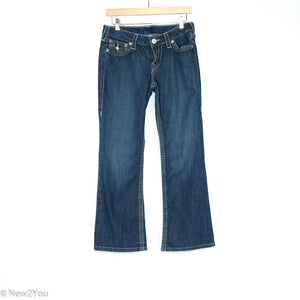Low-Rise Bootcut Dark Wash Jeans (True Religion) - New2Youlx