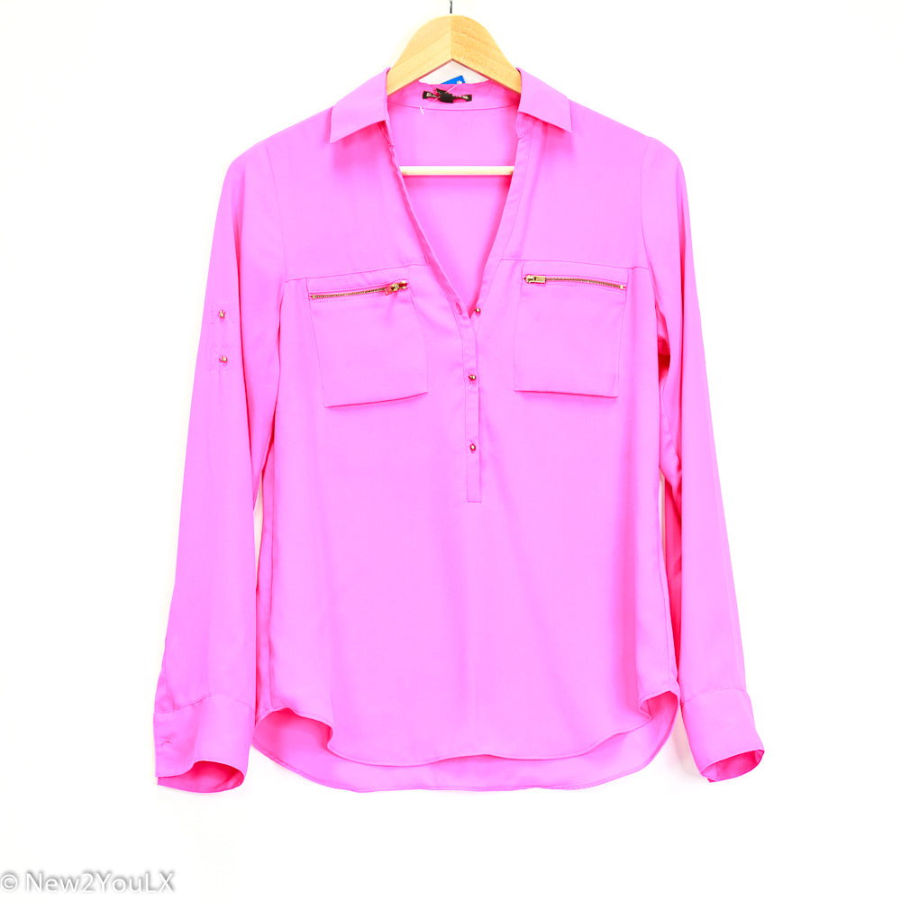 Neon Pink Blouse Express New2You LX