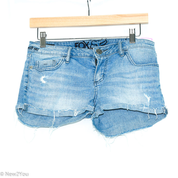 Light Wash Jean Shorts (Foxy) - New2Youlx