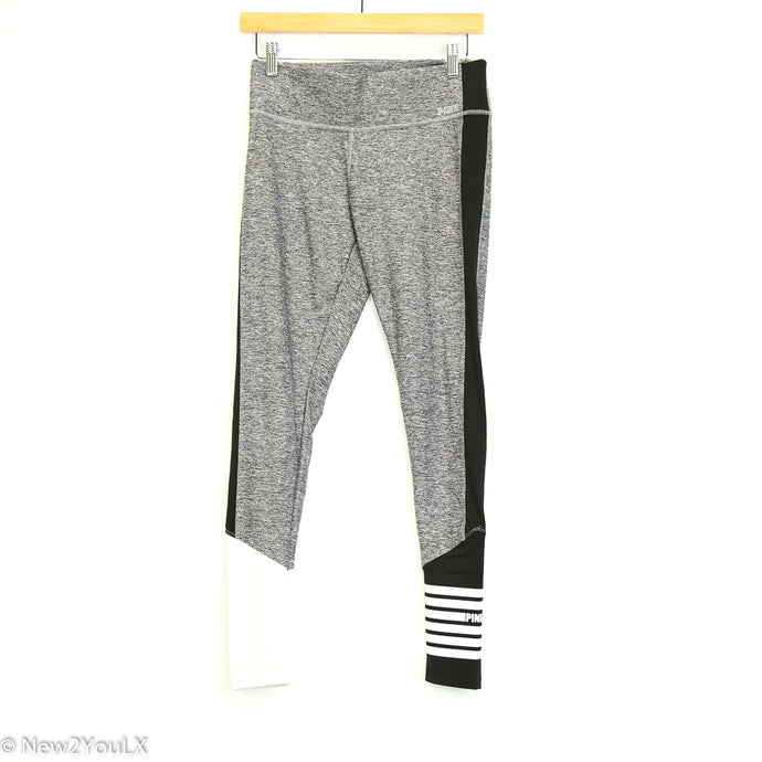 Grey Striped Yoga Pants (Pink)