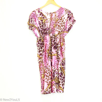 Pink Leopard Print Royal Design Dress (Christina Love)