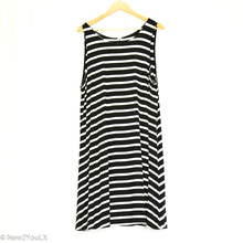 Load image into Gallery viewer, Black & White Tank Dress (Old Navy)