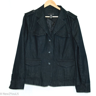 Attention grey denim blazer new2you lx