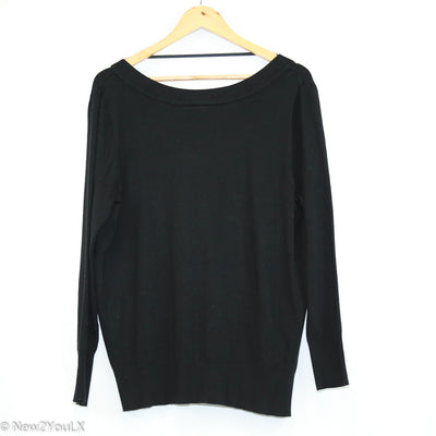 V-Neck Knit Sweater (Lane Bryant)