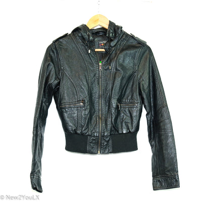 black leather jacket (paper doll) new2you lx