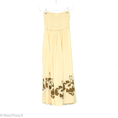 tan and green flower dress (young) new2you lx