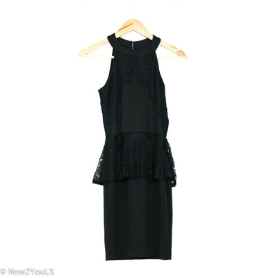 black lace detail dress (urban girl) new2you lx