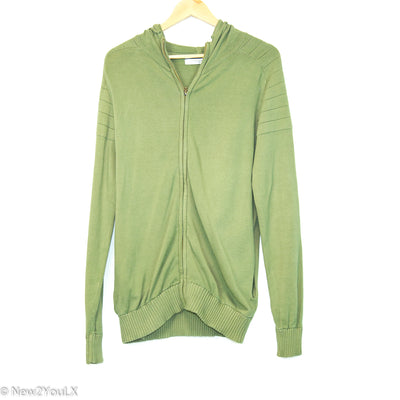 olive green zip up hoodie (thomas) new2you lx