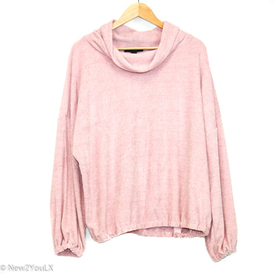 Pink Ballistic Mesh Slouchy Sweater (F21) new2you lx