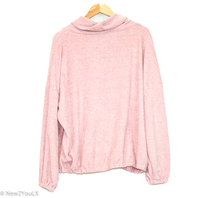 Pink Ballistic Mesh Slouchy Sweater (F21)