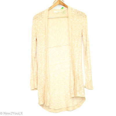 Sand/Cream Bubble Thread Cardigan (Say What?) new2you lx