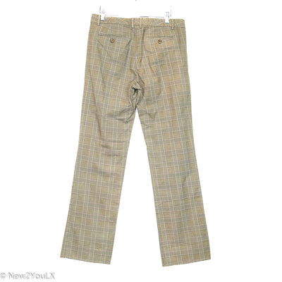 Brown Plaid Straight Leg Slacks (GAP)