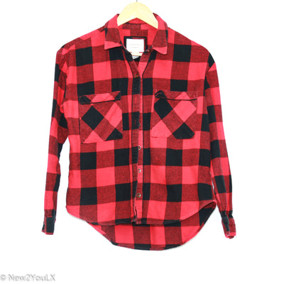 Black/Red Plaid Flannel (F21) new2you lx