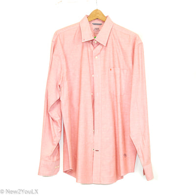 Peach Long Sleeve Button Up (IZOD) new2you lx