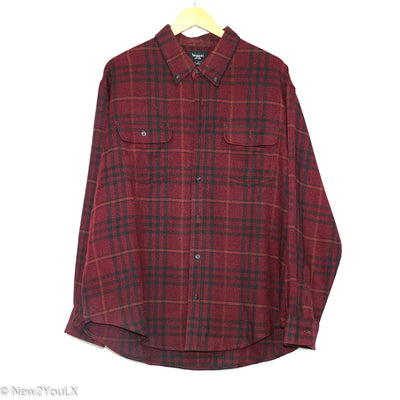 Burgundy Plaid Flannel (Haggar) new2you lx