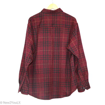 Burgundy Plaid Flannel (Haggar)