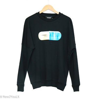 Black Blue Pill Pullover (Diesel) new2you lx