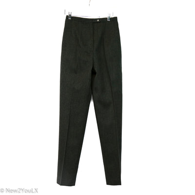 Bernard Haltz Charcoal Wool Slacks New2You New2YouLX