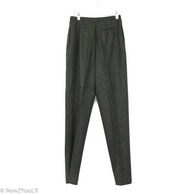 Charcoal Wool Slacks (Bernard Haltz)