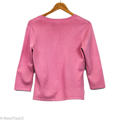 Scoop Neck Knit 3/4 Sweater (Ann Taylor)