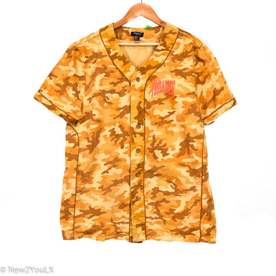 Forever21 Yellow Camouflage Button Up New2You Lx New2You