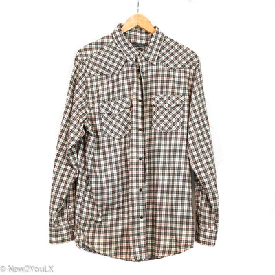 Old Navy Plaid Button Down Collared Shirt New2You New2YouLX