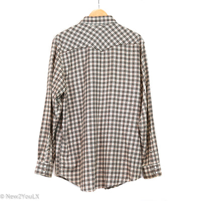 Plaid Button Down Collared Shirt (Old Navy)