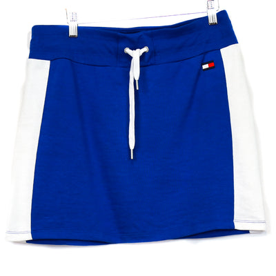 Tommy Hilfiger Blue and White Cloth Skirt