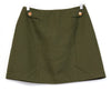 A. Byer Green Button Front Mini Skirt