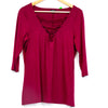 Torrid Purple Cross Chest Blouse