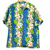 Billabong Blue and Green Hibiscus Button Up