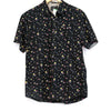 Artistry In Motion Black 80's Retro Print Button Up
