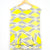 Yellow/Grey Tiered Hem Blouse (Worthington)