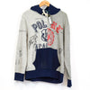Ralph Lauren Polo Grey, Blue and Red Oxford Club Hoodie