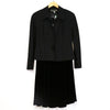 Kelly Graham Black 2 Piece Blazer and Skirt Set
