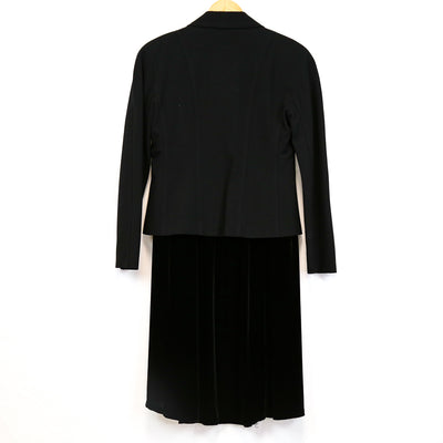 Black 2 Piece Blazer/Skirt Set (Kelly)