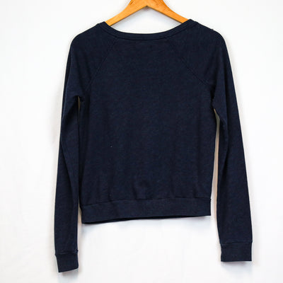 Navy Gold Logo Print Pullover Sweater (Hollister)