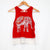 Red Boho Print Elephant Crop Top (Rebellious)