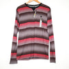 Zoo York Red and Grey Striped Long Sleeve