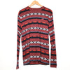 Hollister Maroon Tribal Print Long Sleeve T-shirt
